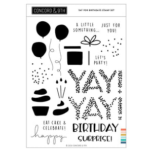 Concord & 9th - YAY FOR BIRTHDAYS - Stamps Set
