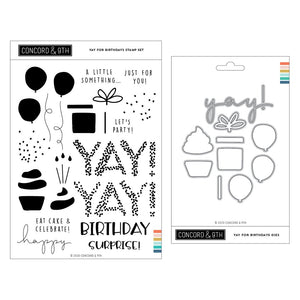 Concord & 9th - YAY FOR BIRTHDAYS - Stamps and Dies BUNDLE Set