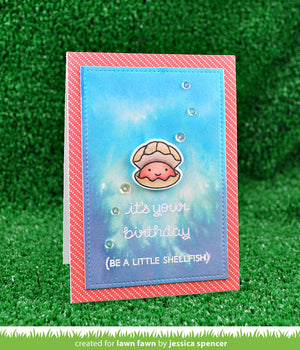 Lawn Fawn - YEAR SIX (Shellfish/Clam) - LAWN CUTS Dies 1 pc - Hallmark Scrapbook - 3
