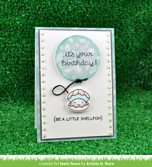 Lawn Fawn - YEAR SIX (Shellfish/Clam) - LAWN CUTS Dies 1 pc - Hallmark Scrapbook - 4