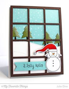 "My Favorite Things - SNOWFALL Background Cling Rubber Stamp 6""X6"" - Hallmark Scrapbook - 3"