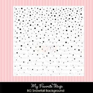 "My Favorite Things - SNOWFALL Background Cling Rubber Stamp 6""X6"" - Hallmark Scrapbook - 7"