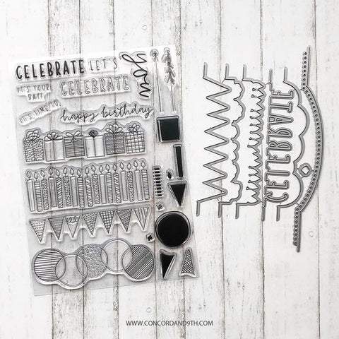 Concord & 9th - BIRTHDAY STACKS Stamps & Dies BUNDLE