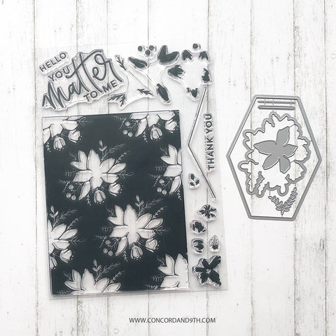 Concord & 9th - BLOOMS FILL-IN Bundle- Stamps and Dies Set