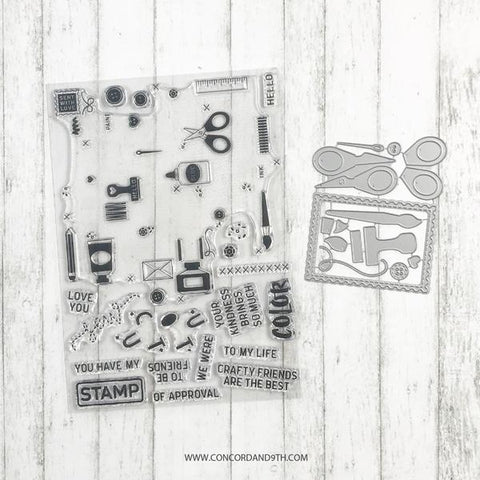 Concord & 9th - CRAFTY TURNABOUT Stamps and CRAFTY Dies BUNDLE