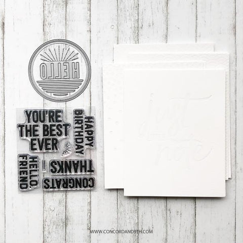 Concord & 9th - EVERYDAY Bundle - Stamps, Dies and Card Pack