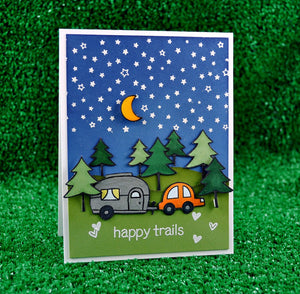 Lawn Fawn - Happy Trails - CLEAR STAMPS 12 pc - Hallmark Scrapbook - 6