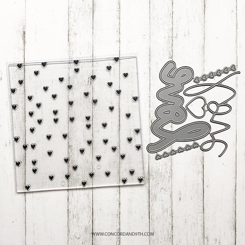 Concord & 9th - HEART TURNABOUT and HEARTS & LOVE DIES Bundle - Stamp and Die Set