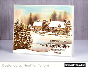 Penny Black - SNOW COVERED - Cling Rubber Stamp*
