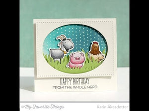 My Favorite Things - GRASSY FIELDS - Die-Namics Dies - Hallmark Scrapbook - 6