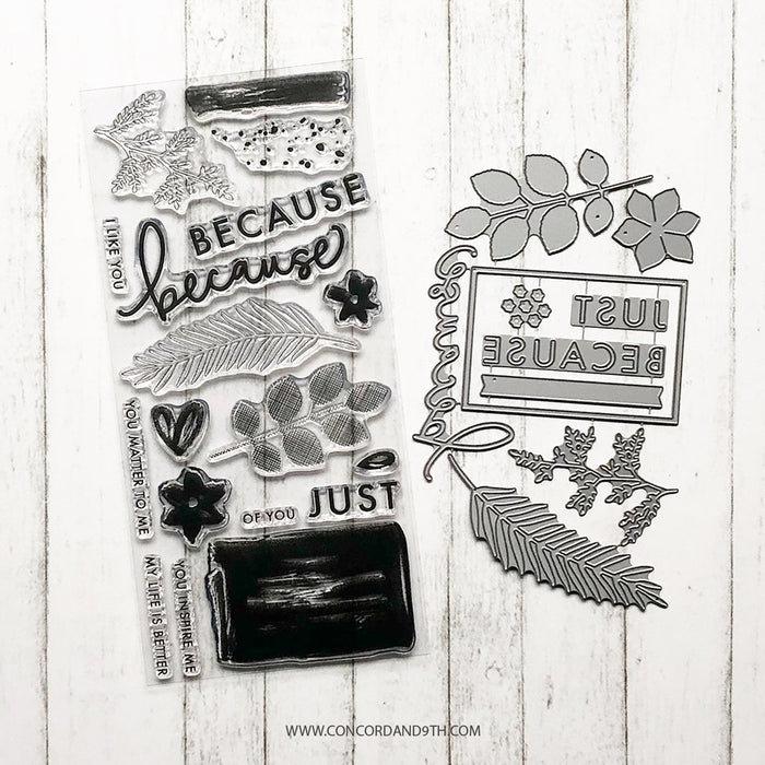 Concord & 9th - JUST BECAUSE Stamps and Dies BUNDLE Set
