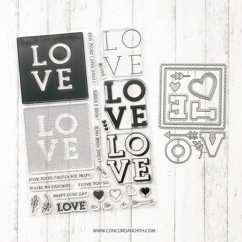 Concord & 9th - LOVE YOU SO Stamps and Dies Bundle set