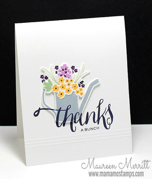 WPlus9 Design Studio - HAND LETTERED THANKS Stamps - Hallmark Scrapbook - 3