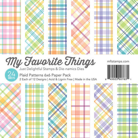 My Favorite Things - PLAID PATTERNS Paper Pack 6x6 - 24 sheets - Hallmark Scrapbook