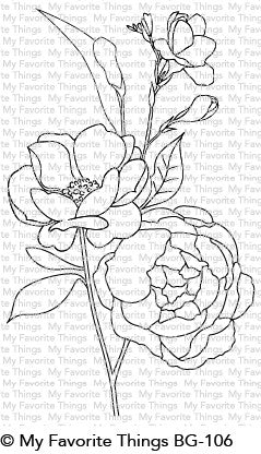 My Favorite Things - BG FRESH-CUT FLOWERS - Rubber Stamp