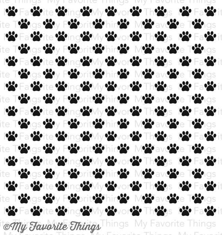 "My Favorite Things - PAW PRINT Background Cling Rubber Stamp 6""X6"" - Hallmark Scrapbook - 1"
