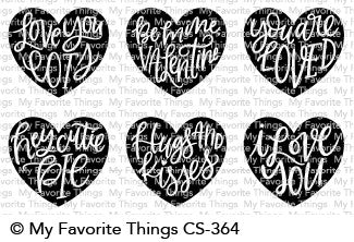 My Favorite Things - HEART ART - Clear Stamp Set