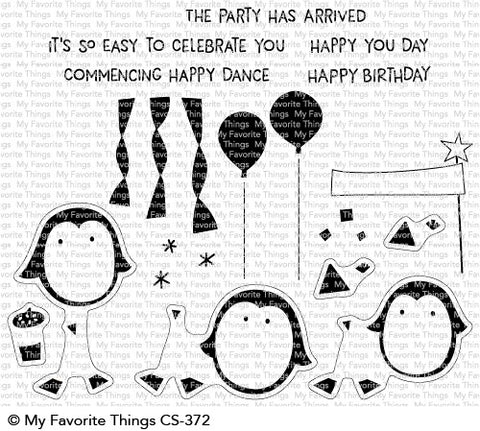 My Favorite Things - PARTY PENGUINS - Clear Stamp Set