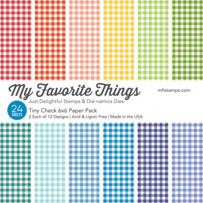 My Favorite Things - TINY CHECK Paper Pack 6x6 - 24 sheets