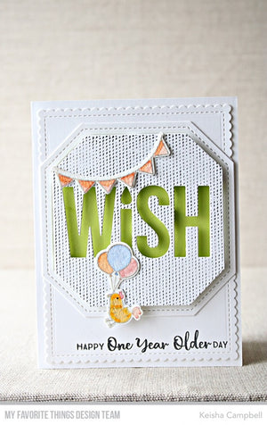 My Favorite Things - ANYTHING-BUT-BASIC BIRTHDAY WISHES - Clear Stamp