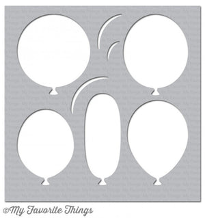 My Favorite Things - BIG BALLOONS - Stencil - Hallmark Scrapbook - 1