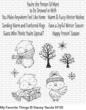 My Favorite Things - WARM AND FEATHERED HUGS Clear Stamps