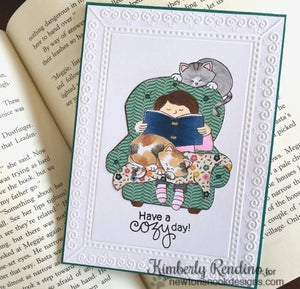 Newton's Nook Designs - A COZY DAY IN Clear Stamps - Hallmark Scrapbook - 4
