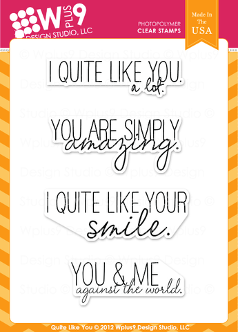 WPlus9 Design Studio - QUITE LIKE YOU Stamps - Hallmark Scrapbook - 1