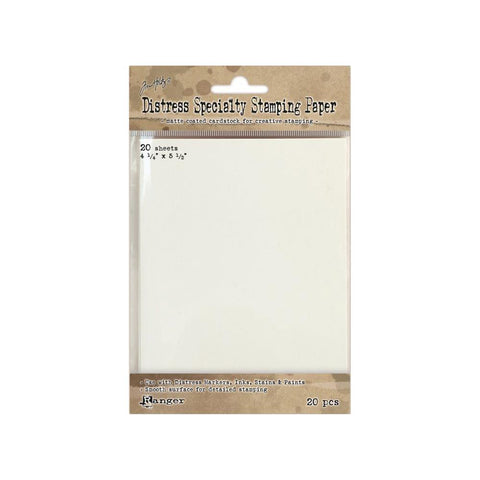 "Tim Holtz/Ranger - DISTRESS SPECIALTY STAMPING PAPER  -  4.25""x5.5""   20 sheets"
