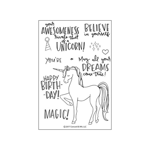 Concord & 9th - UNICORN AWESOMENESS Stamps set