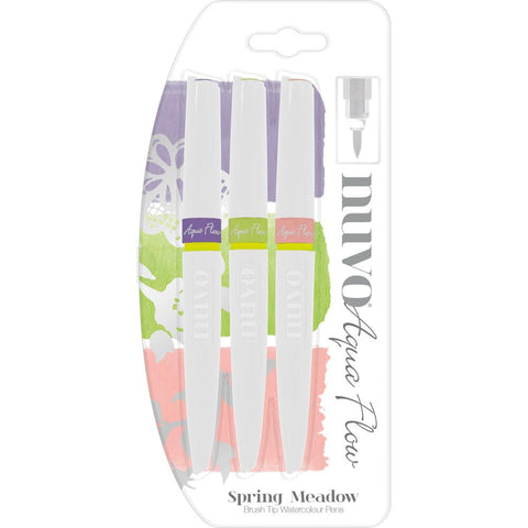 Nuvo Brush Tip Watercolour Pens - SPRING MEADOW - (Water Based) by Tonic
