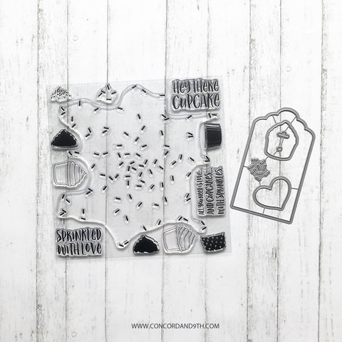 Concord & 9th - SPRINKLES TURNABOUT Stamps & SPRINKLES TAG Die Bundle