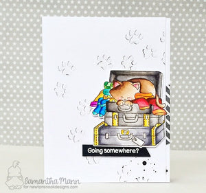 Newton's Nook Designs - STOWAWAY NEWTON Clear Stamps Set - Stow away