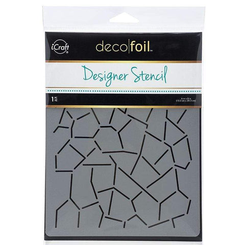 Deco Foil™ Designer Stencil • CRACKLE - 60% OFF!
