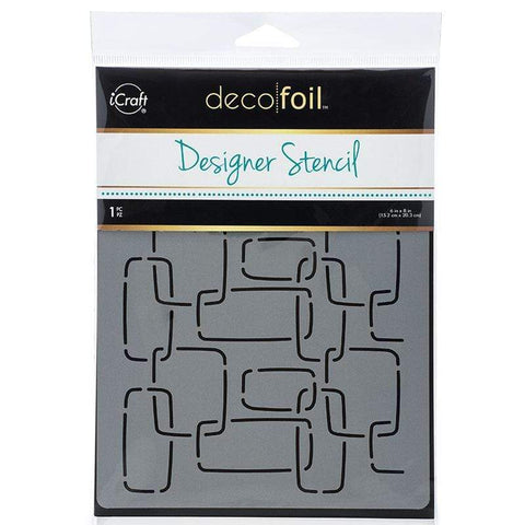 Deco Foil™ Designer Stencil • MODERN LINKS - 60% OFF!