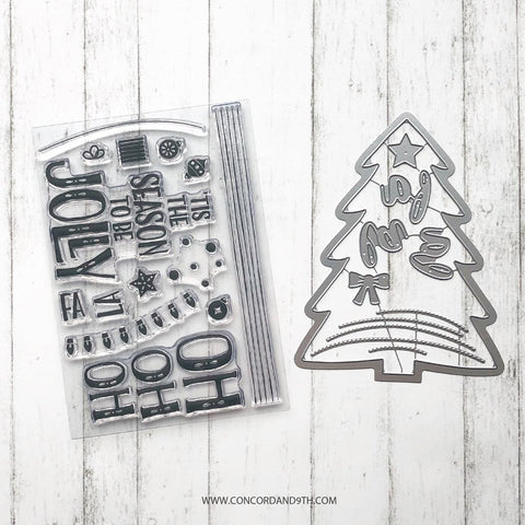 Concord & 9th - TRIM THE TREE Bundle - Stamps and Dies Set