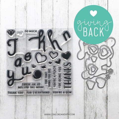 Concord & 9th - TRIPLE STEP THANK YOU Stamps AND Dies BUNDLE