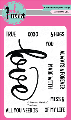Pink & Main - TRUE LOVE - Stamp set - Hallmark Scrapbook - 1