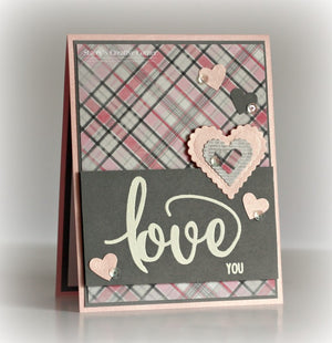 Pink & Main - TRUE LOVE - Stamp set - Hallmark Scrapbook - 4