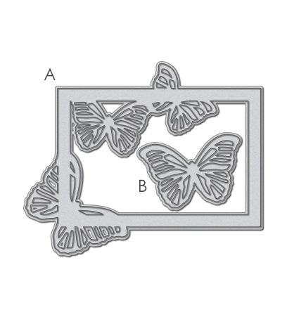 WPlus9 Design Studio - SMALL BUTTERFLY FRAME Die set