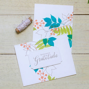 WPlus9 Design Studio - GRATEFUL GREETINGS Stamps - Hallmark Scrapbook - 2