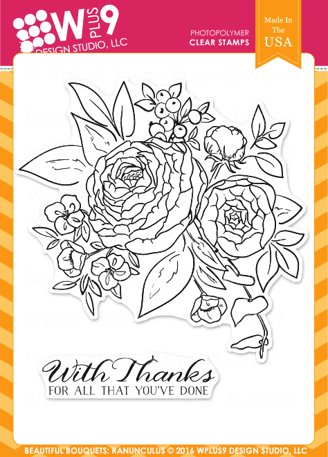 WPlus9 Design Studio - BEAUTIFUL BOUQUETS RANUNCULUS Stamps