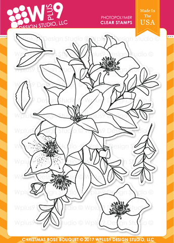 WPlus9 Design Studio - CHRISTMAS ROSE BOUQUET Stamps