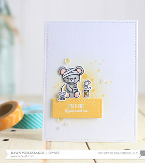 WPlus9 Design Studio - GET WELL GANG Stamps set - Hallmark Scrapbook - 2