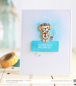 WPlus9 Design Studio - GET WELL GANG Stamps set - Hallmark Scrapbook - 3