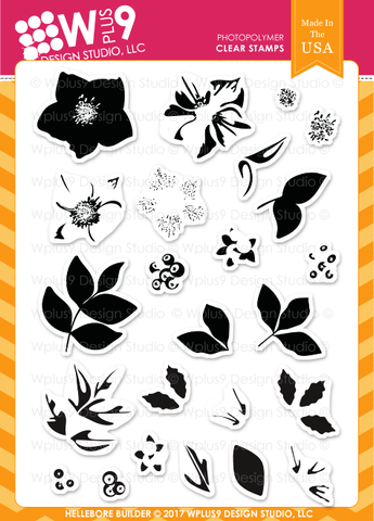 WPlus9 Design Studio - HELLEBORE BUILDER Stamps