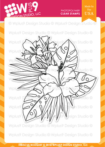 WPlus9 Design Studio - HIBISCUS BOUQUET Stamp set