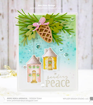 WPlus9 Design Studio - HOLIDAY HOUSES Dies set - Hallmark Scrapbook - 3
