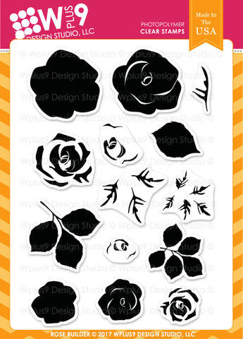 WPlus9 Design Studio - ROSE BUILDER Stamps