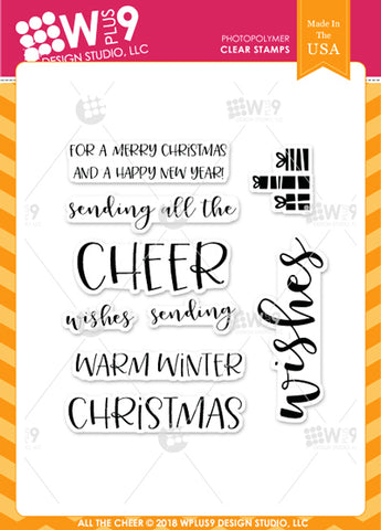 WPlus9 Design Studio - ALL THE CHEER Stamps